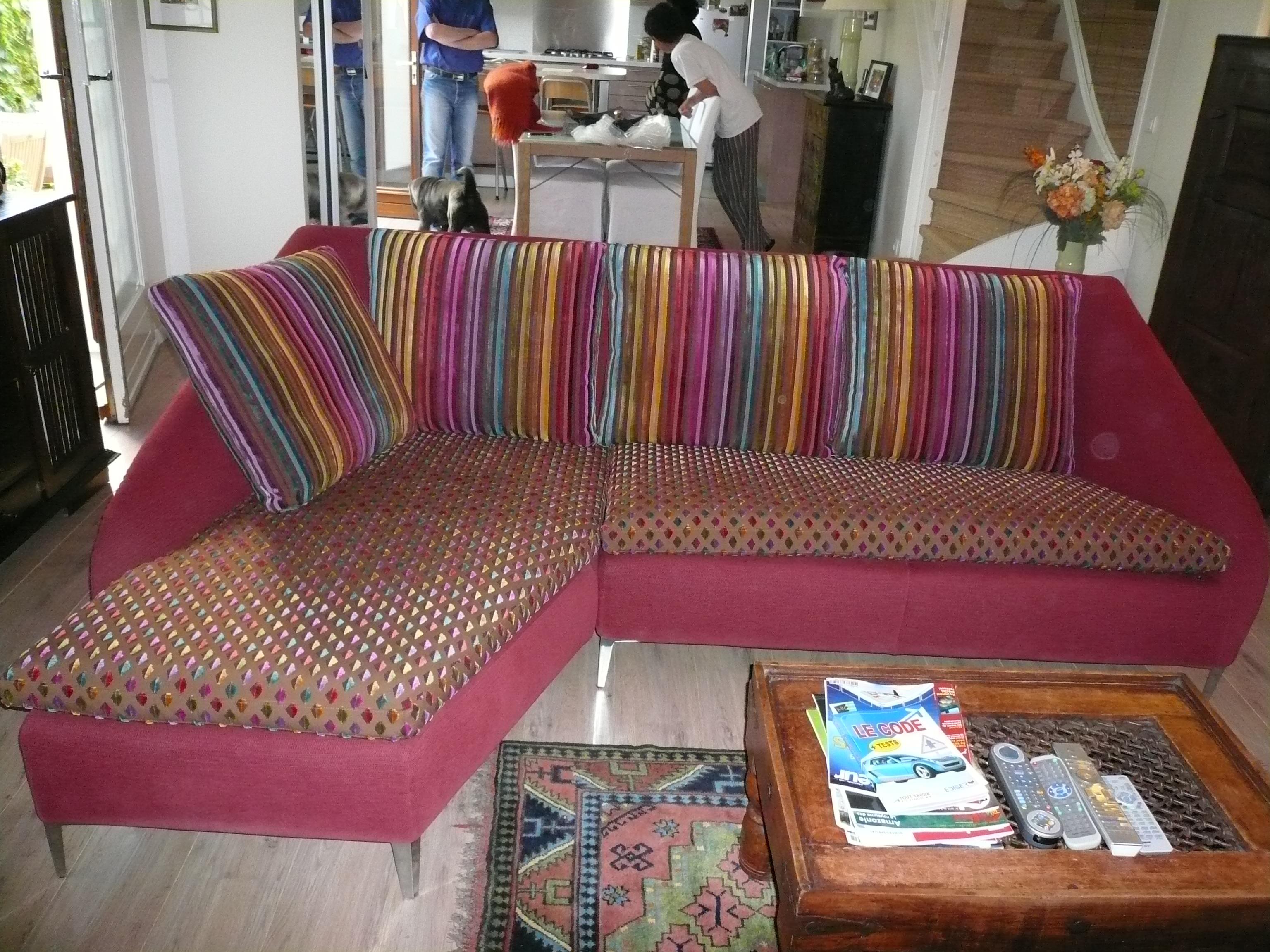 Réalisation de coussins de canapés et de fauteuils